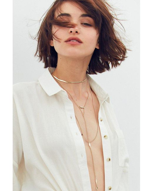 Urban Outfitters | Metallic Snake Chain Layering Necklace | Lyst
