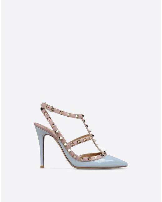 Valentino | Blue Rockstud Ankle Strap | Lyst