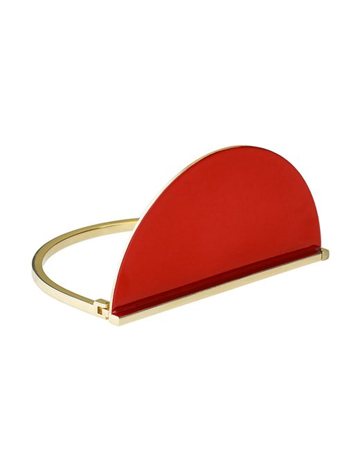 Uncommon Matters | Metallic Red Half Circle Bracelet | Lyst
