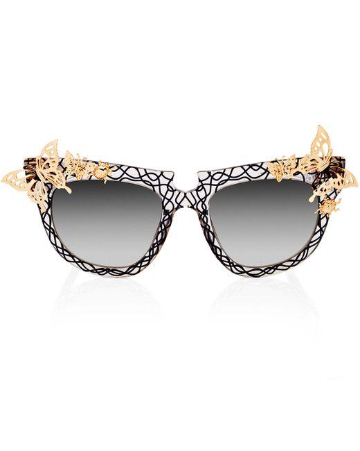 Anna Karin Karlsson | Metallic Ladybird Crystal Butterfly Sunglasses | Lyst
