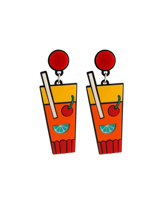 Yazbukey   Multicolor Sex On The Beach Cocktail Earrings   Lyst