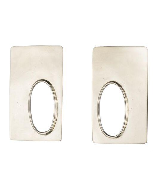 Anndra Neen - Metallic Rectangle Marx Earrings - Lyst
