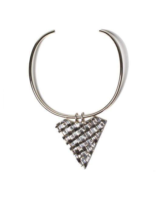 Anndra Neen | Metallic Thatched Triangle Choker | Lyst