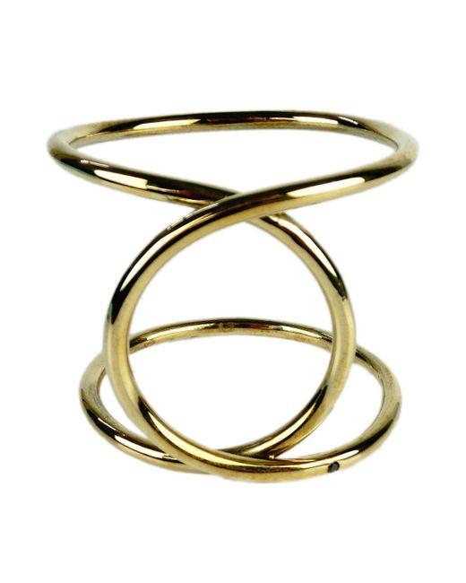 Alyssa Norton | Twisted Brass Bracelet With Black Diamond | Lyst