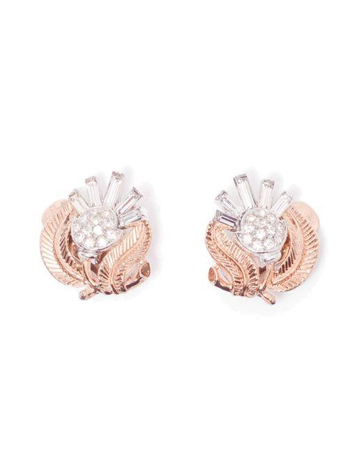 Rarities | Multicolor Trifari Flower Earrings | Lyst