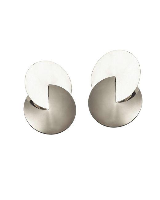 Uncommon Matters | Metallic Duett Silver Earrings | Lyst