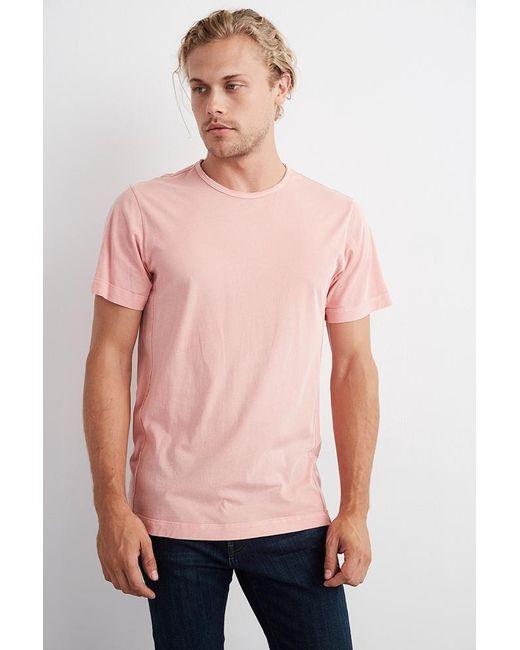 Velvet By Graham & Spencer | Pink Langley Short Sleeve Pigment Dye Whisper Tee for Men | Lyst