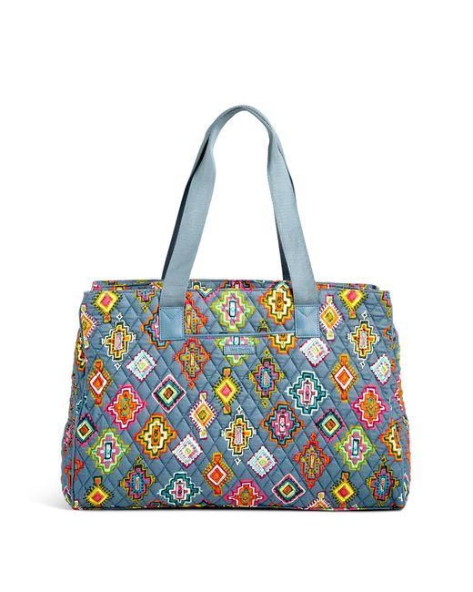 Vera Bradley | Blue Triple Compartment Travel Bag | Lyst