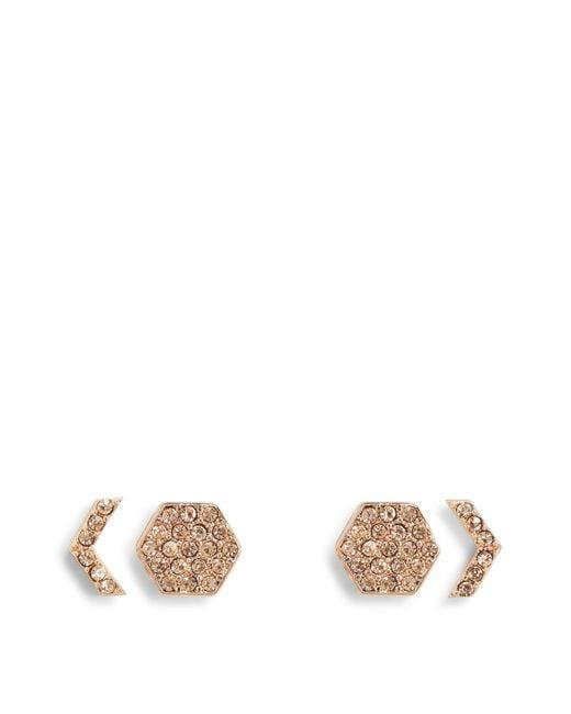 Vera Bradley | Multicolor Whisper Links Hexagon Stud Earrings | Lyst
