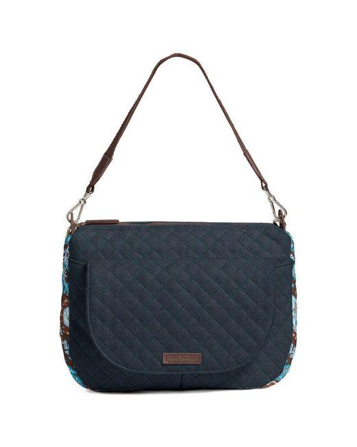 6c5b335234ed Lyst - Vera Bradley Custom Carson Shoulder Bag in Blue