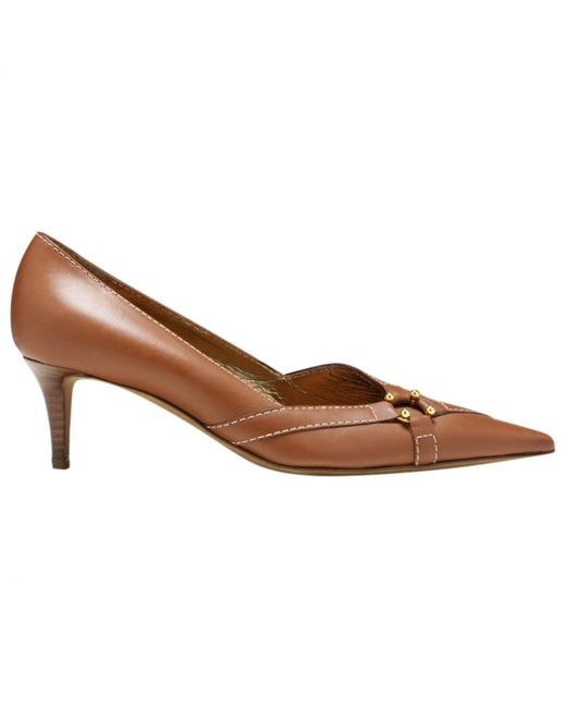 Céline - Brown Pre-owned Camel Leather Heels - Lyst