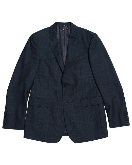 Burberry - Blue Wool Jacket for Men - Lyst