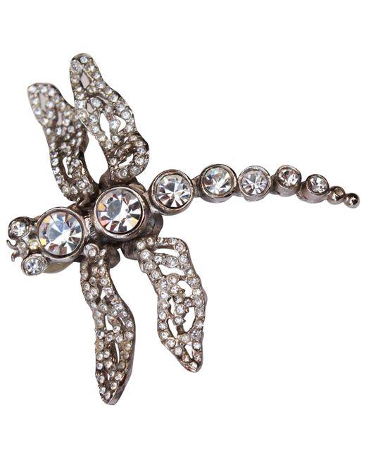 Dior - Metallic Pre-owned Earrings - Lyst
