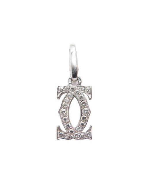 Cartier | Metallic Pre-owned C White Gold Pendant | Lyst