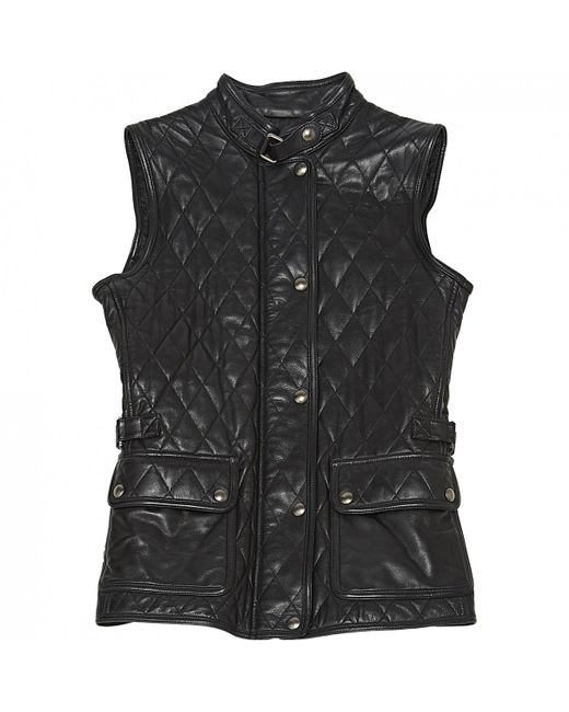 Belstaff - Black Leather Jacket - Lyst