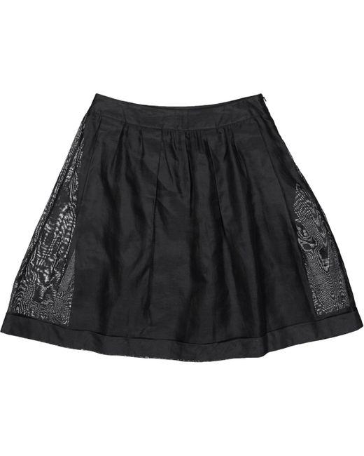 Burberry Black Cotton Skirt