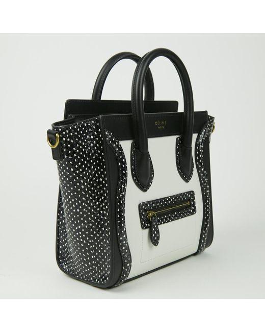 ... Céline - Black Nano Luggage Python Mini Bag - Lyst ... 324b3086acb09