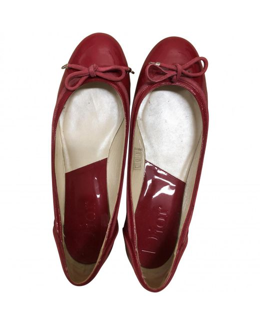 Dior - Pink Pre-owned Patent Leather Ballet Flats - Lyst