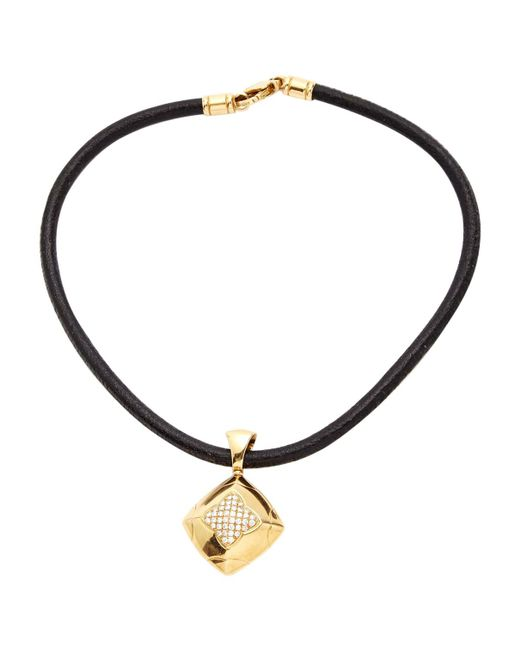 BVLGARI - Metallic Pre-owned Pyramide Yellow Gold Necklace - Lyst