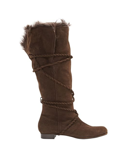 Moschino - Brown Pre-owned Boots - Lyst