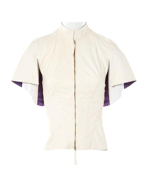 Jean Paul Gaultier - Natural Leather Short Vest - Lyst