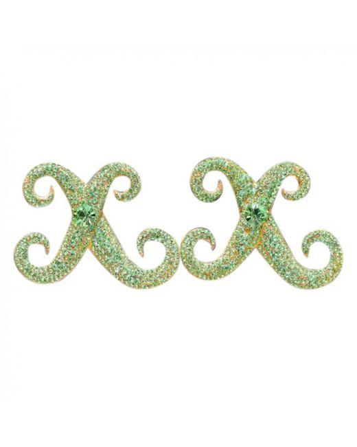 Lanvin - Pre-owned Green Metal Earrings - Lyst