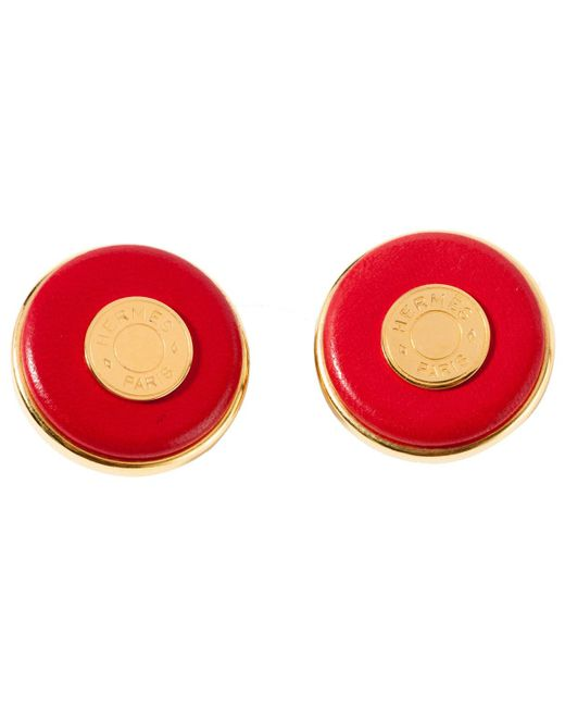 Hermès - Metallic Pre-owned Earrings - Lyst