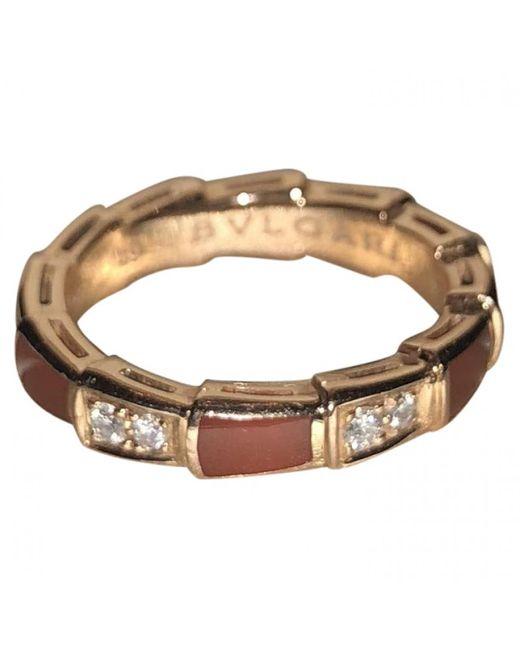 BVLGARI - Metallic Serpenti Viper Other Pink Gold Ring - Lyst