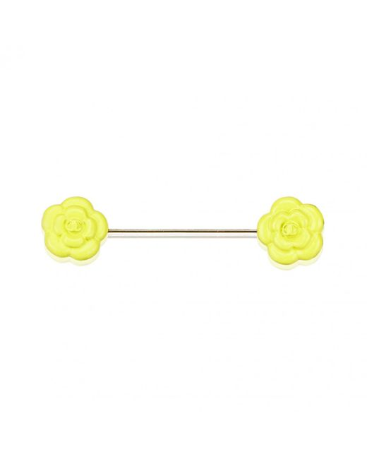 Chanel - Pre-owned Yellow Metal Pins & Brooches - Lyst