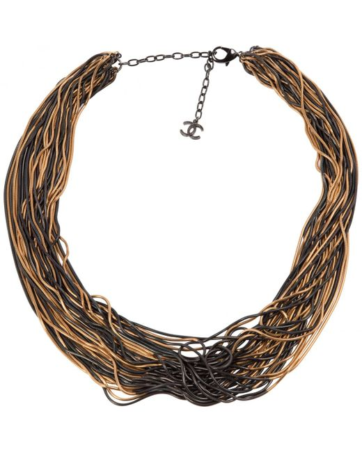 Chanel - Pre-owned Metallic Metal Long Necklaces - Lyst