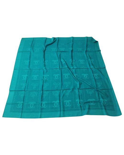 Cartier | Pre-owned Green Wool Silk Handkerchief | Lyst