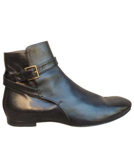 Jil Sander - Black Leather Ankle Boot - Lyst