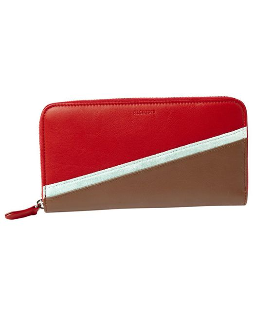 Jil Sander - Red Pre-owned Leather Wallet - Lyst