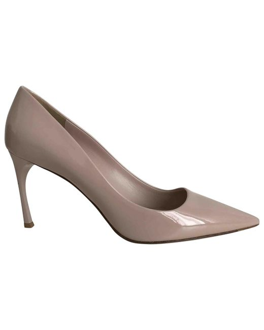 Miu Miu | Pink Pre-owned Patent Leather Heels | Lyst