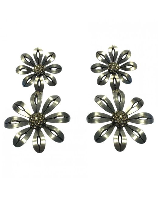 Lanvin - Metallic Silver Metal Earrings - Lyst