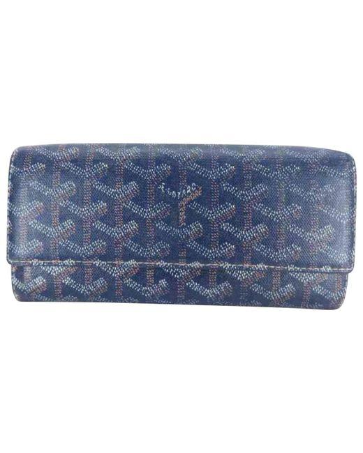 Goyard - Blue Cloth Wallets - Lyst