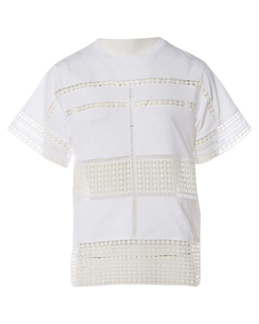 Chloé - Pre-owned White Cotton Top - Lyst