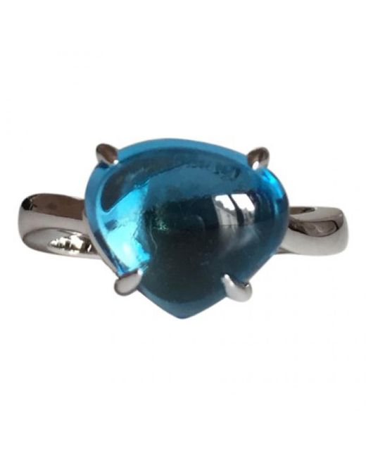 BVLGARI - Blue Pre-owned White Gold Ring - Lyst