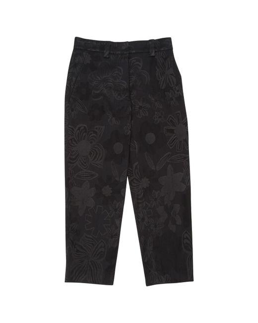 Acne - Black Wool Trousers - Lyst