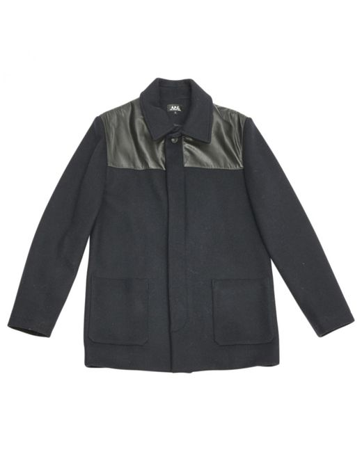 A.P.C. - Blue Pre-owned Coat for Men - Lyst