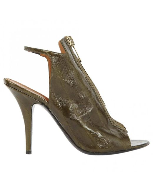 Givenchy - Green Leather Sandals - Lyst