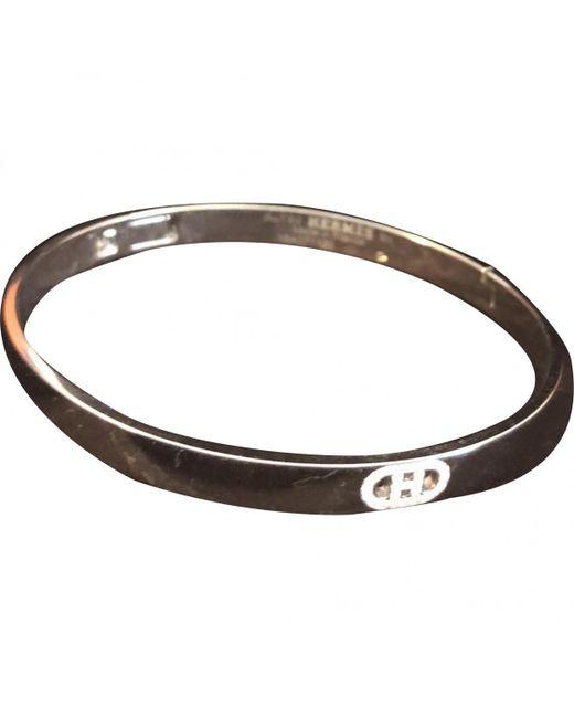 Hermès - Chaîne D'ancre White Gold Bracelet - Lyst