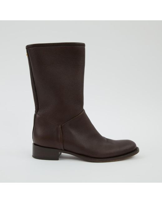 Loro Piana - Brown Leather Riding Boots - Lyst