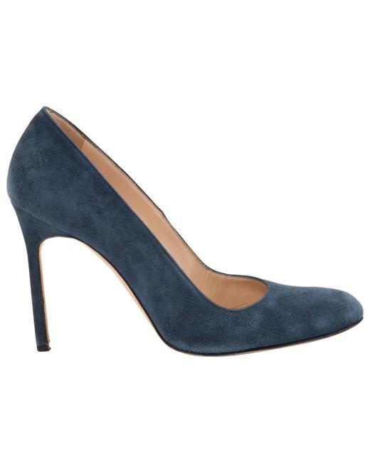 Manolo Blahnik | Blue Pre-owned Heels | Lyst