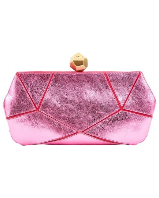 Roger Vivier - Pink Pre-owned Leather Clutch Bag - Lyst
