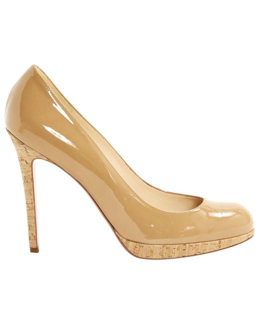 Christian Louboutin | Natural Pre-owned Simple Pump Patent Leather Heels | Lyst