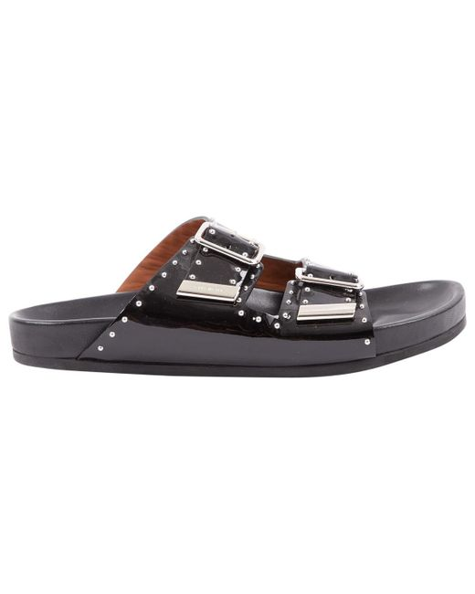 Givenchy - Black Pre-owned Patent Leather Sandal for Men - Lyst