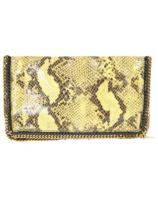 01bf7e30c4 Stella McCartney - Yellow Falabella Clutch Bag - Lyst ...