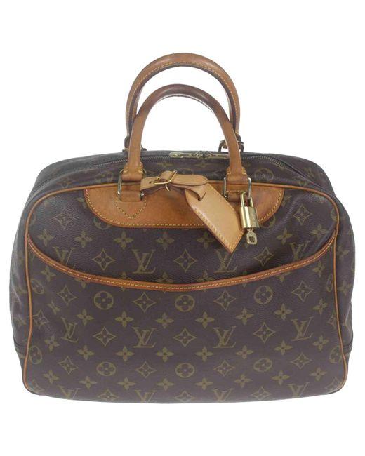 Louis Vuitton - Brown Deauville Cloth Handbag - Lyst