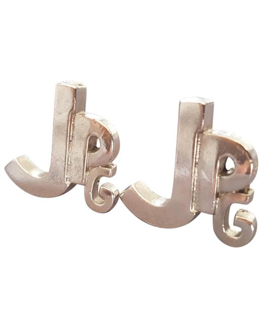 Jean Paul Gaultier - Metallic Vintage Silver Metal Earrings - Lyst